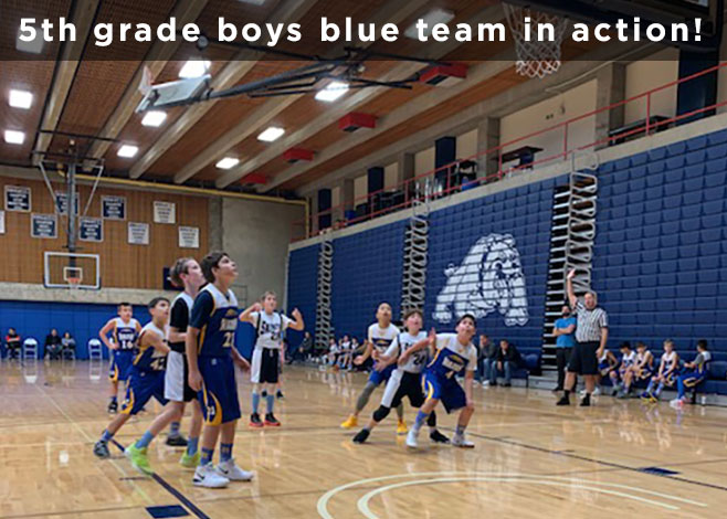 5th Grade Boys Blue Team in Action
