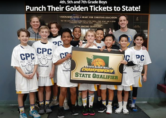 4th, 5th and 7th grade boys punch their golden tickets to state!